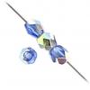 Fire polished 4mm Transparent Sapphire Vitrail